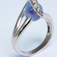Asring Glasbol blauw 10 mm