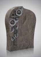 Bekapte grafsteen - art.nr. 7125 Himalaya met ornament H2