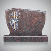 Bekapte grafsteen - art.nr. 7206 Paradiso met ornament R3 beide zijden gepolijst