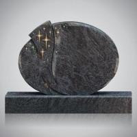 Bekapte grafsteen - art.nr. 7210 Orion met ornament R7 beide zijden gepolijst