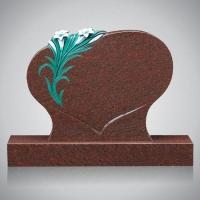 Bekapte grafsteen - art.nr. 7211 Star Ruby met ornament R8 beide zijden gepolijst