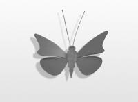 Decoratieobject RVS - art.nr. 141156 vlinder