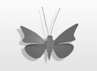 Decoratieobject RVS - art.nr. 751051 vlinder