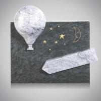 Kindermonument - art.nr. 8450 Orion Wiskont wit beiden zijden gepolijst