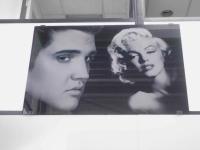 Lasergravure - art.nr. 5544  Elvis Presley & Marilyn Monroe
