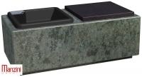 Urnen natuursteen - graniet - art.nr.  JU 1 TVE