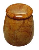Urnen natuursteen - albast - art.nr. UA 4 bruin