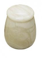 Urnen natuursteen - albast - art.nr. UA 4 wit
