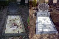 Onderhoud en restauratie grafmonument oude en nieuwe situatie
