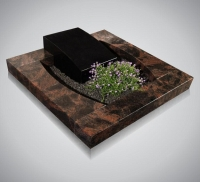 Urnmonumenten - art.nr. 4020 - Aurindi zwart